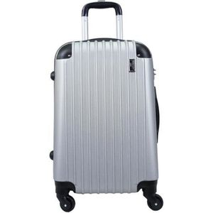 VALISE - BAGAGE Valise Taille Cabine 55cm 4 roues rigide gris - Co