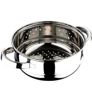 QUUY Panier de Vapeur de l/égumes en Acier Inoxydable 304 Panier de Vapeur instantan/é de Pot de Vapeur de cuiseur de Riz de cuiseur /à la Vapeur avec la poign/ée de Silicone