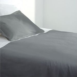 HOUSSE DE COUETTE SEULE Housse de couette 220x240 gris 100% coton 57 fils