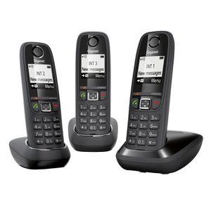 Téléphone fixe Gigaset AS405 Trio Téléphone sans Fil Sans Réponde