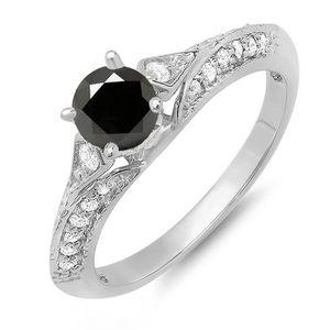 BAGUE - ANNEAU Bague Femme Diamants 0.85 ct  10 ct 471-1000 Or Bl