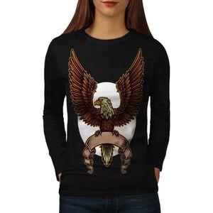 T-SHIRT Aigle Lune Nuit Mode Women  T-shirt à manches long