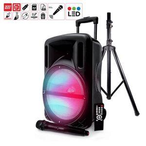 PACK SONO Enceinte 500W DJOON MyDJ à LED RVB Mobile + Pied