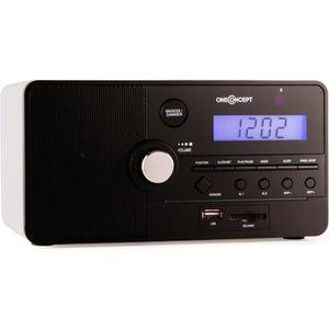 Radio réveil oneConcept Luzern - Radio-réveil avec ports USB/SD