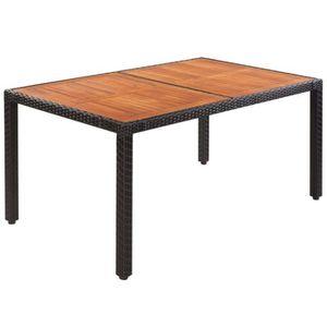 SALON DE JARDIN  Table de pique-nique Table de jardin Rotin Dessus