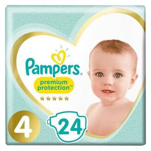 COUCHE PAMPERS Premium protection Couches Taille  4 x24