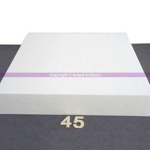 Support à décorer Support Carré Hauteur. 7 cm, Largeur 45 cm, Dummy