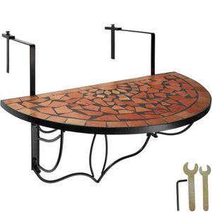 TABLE DE JARDIN  TECTAKE Table de Jardin, Table de Balcon Pliante S