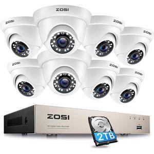 CAMÉRA DE SURVEILLANCE ZOSI 720p HD 8CH DVR Enregistreur 1To HDD 8pcs Cam