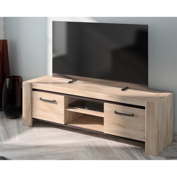 EMBRUN Banc TV - Made in France - L 160 x P 49 x H 160 cm
