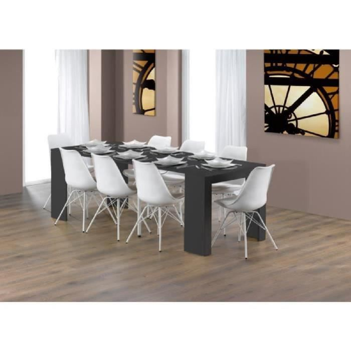 goomy table console extensible 6 personnes 50 180x90 cm gris mat achat vente console. Black Bedroom Furniture Sets. Home Design Ideas