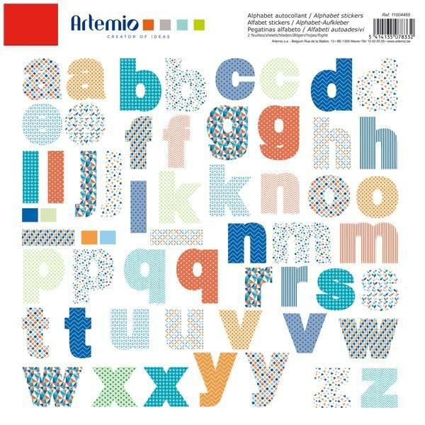 Alphabet autocollant couleurs