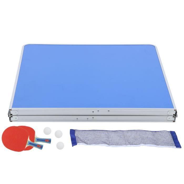 INGSHOP© Table pliable de tennis de table Accessoire d'intérieur durable de ping-pong réglé