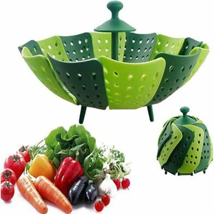 panier de fruits et légumes aliments silicone vapeur steamer plastique sac de cuisson sac vapeur