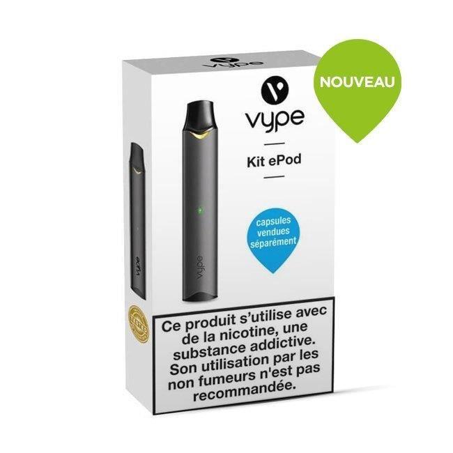Cigarette élèctronique Vype ePod kit seul Noir