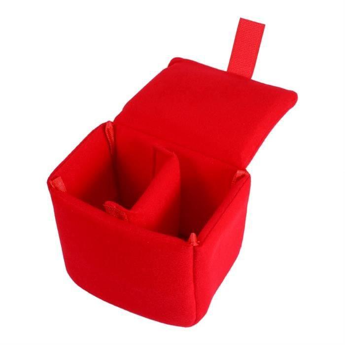 Rouge -DLSR caméra sac étui rembourré antichoc doux petit appareil photo sac insérer pochette couverture protéger diviseur accessoir