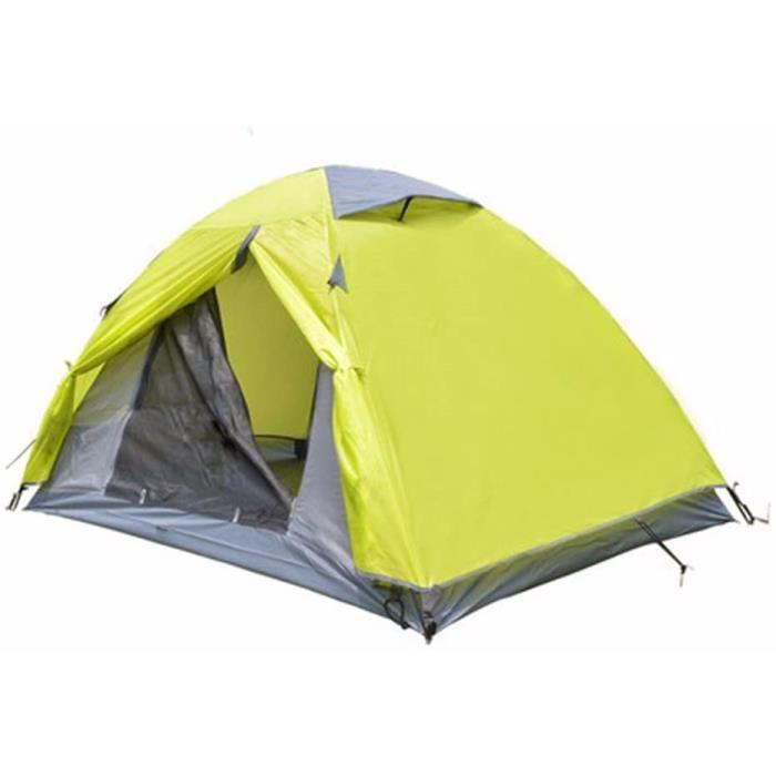 SJQKAtente de plein air 2 personnes du camping eacutequipeacutee de double pont daluminium trois saisons professionnelles les po392