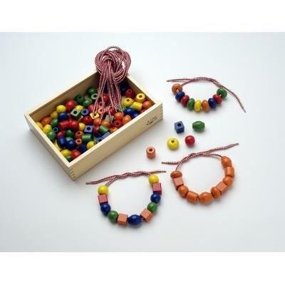 SAPIN MALIN Boîte de 125 Grosses Perles en Bois