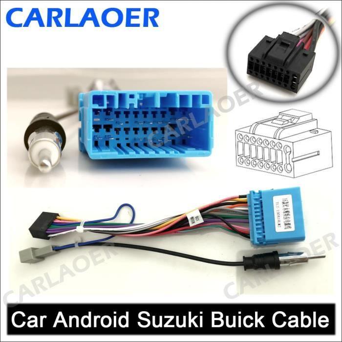 Pièces Auto,Câble autoradio 2 din pour voiture, Android, compatible avec l'extérieur, pour Suzuki, Buick, - Type SUZUKI BUICK