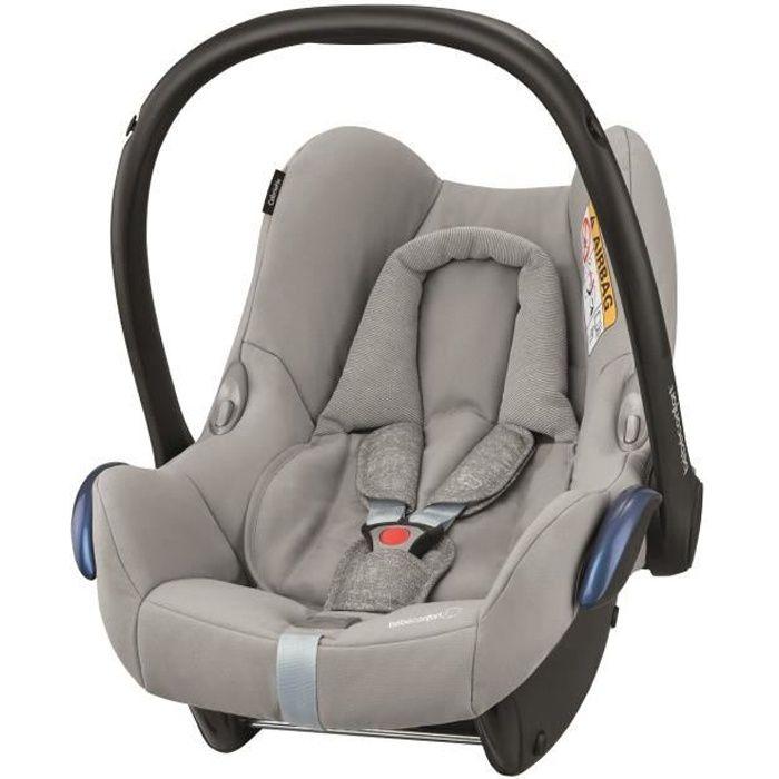 BEBE CONFORT Siège auto Cabriofix Groupe 0+ - Nomad Grey, dès la naissance