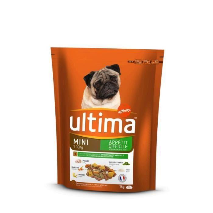 ULTIMA Croquettes complètes au poulet - Pour chien - 1 kg (Lot de 3)