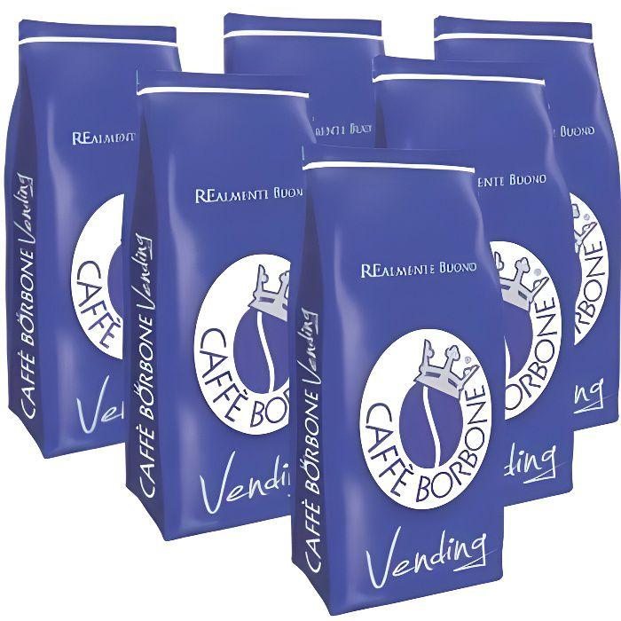 Caffè Borbone - Grains Mélange bleu Paquet de 6 kg