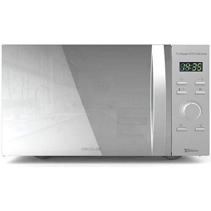 Cecotec Micro-ondes avec Gril ProClean 5120. Capacité de 20 L, Revêtement Ready2Clean, 700 W de Puissance, Gril 800 W, 5 Niveaux de