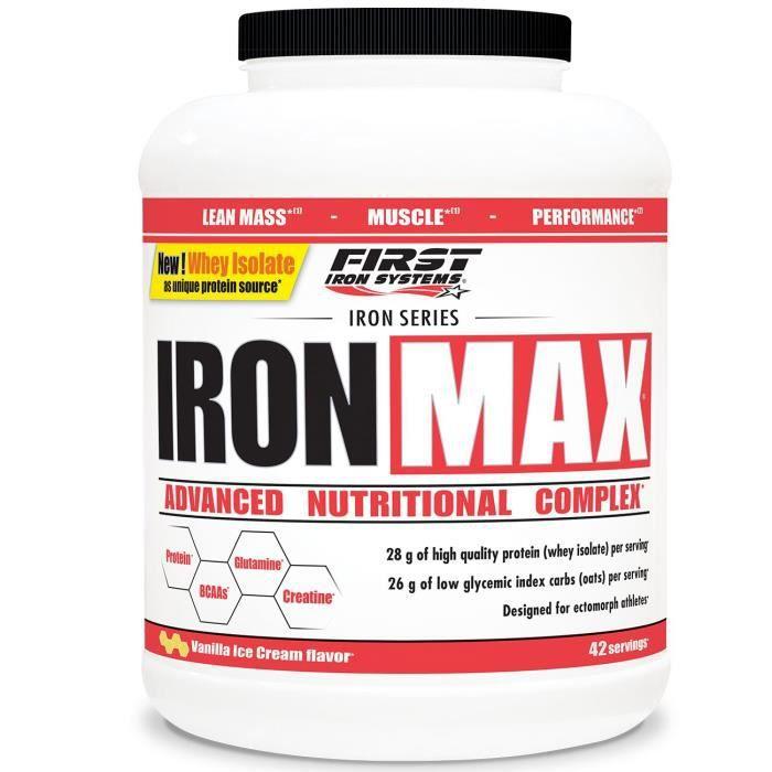 IronMax 2800g VANILLE Proteine Creatine BCAA Glutamine