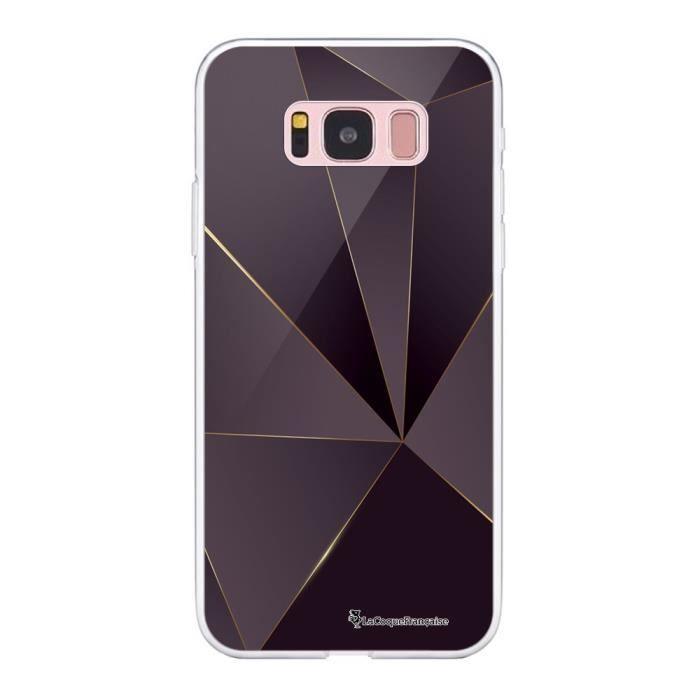 Coque Samsung Galaxy S8 360 intégrale transparente Violet géométrique Ecriture Tendance Design La Coque Francaise