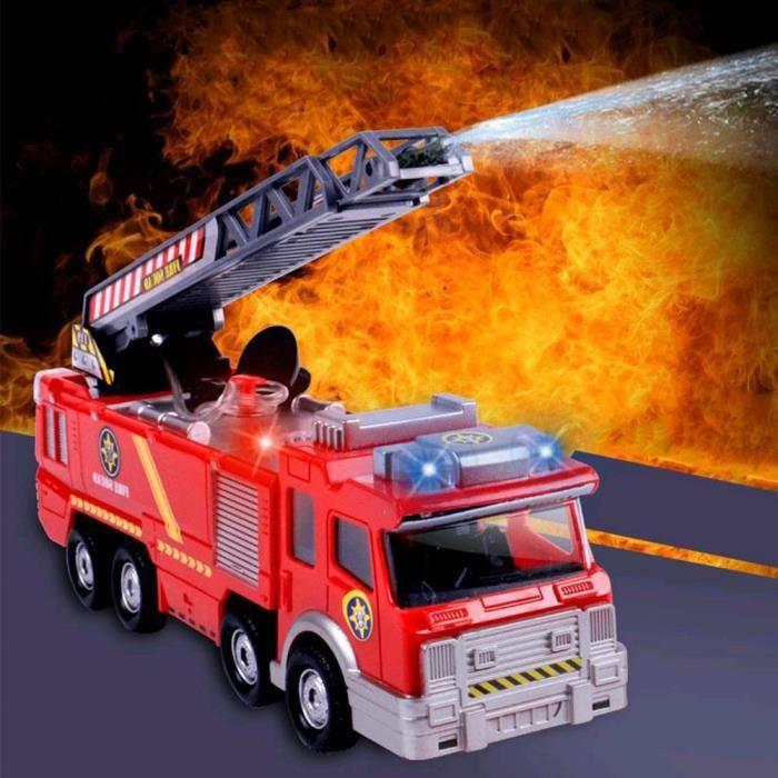 Camion de pompier électrique de jouet de pulvérisation d'eau