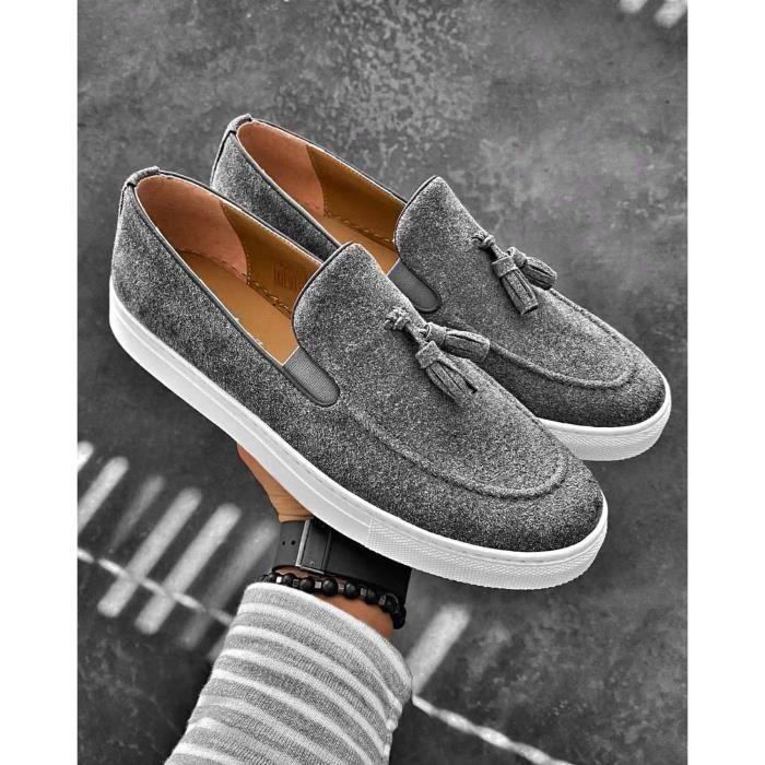 Mocassins style décontracté gris pour Homme