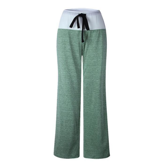 Pantalon de yoga à la mode de sport long ample à séchage rapide pour femme Lady (taille XXXL, SURVETEMENT - JOGGING DE SPORT