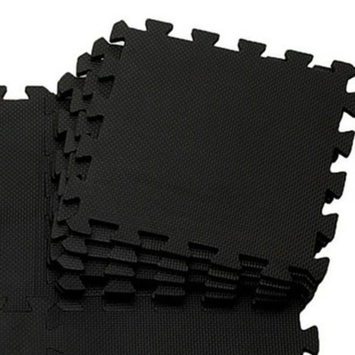 Tapis de sol en mousse domestique 30 * 30CM noir