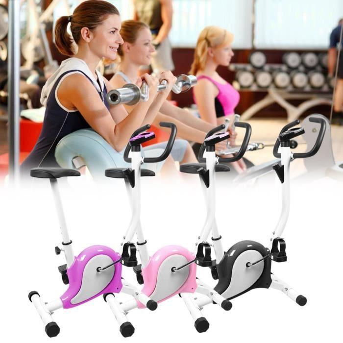 Vélo d'appartement Super vélo d'exercice réglable easy fit-Violet