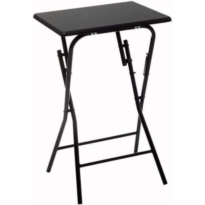 Table d'Appoint Pliante Design -Paola- 64cm Noir