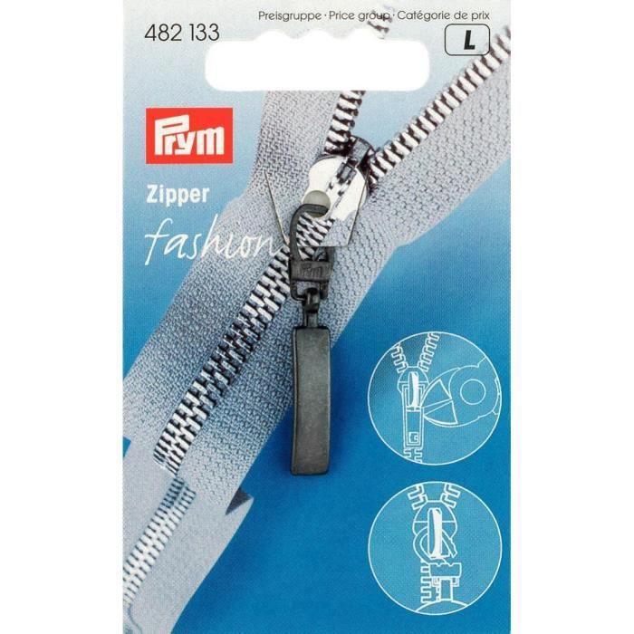 PRYM Tirette Fashion Zipper Classic Noir
