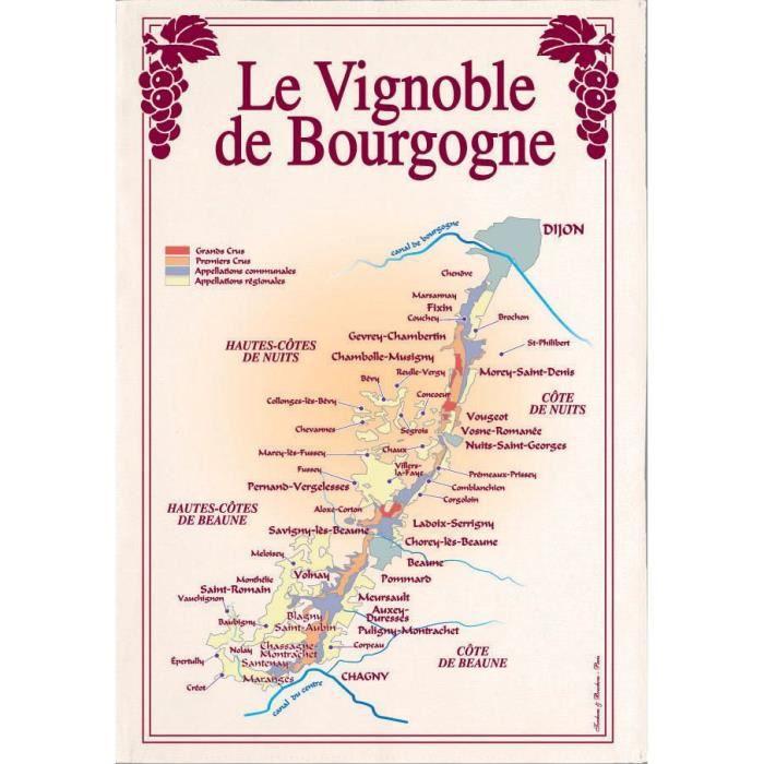 Torchon vignoble de bourgogne
