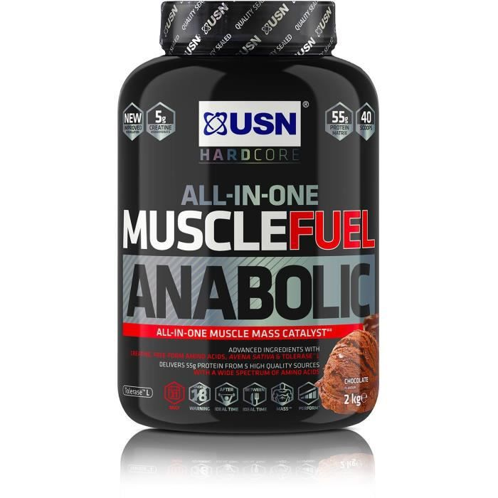 USN Prise de masse Muscle Fuel Anabolic - Chocolat - 2 kg