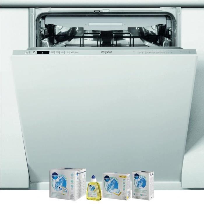 WHIRLPOOL Lave-vaisselle tout intégrable encastrable 43dB 14 couverts 60cm Tiroir à couverts 82