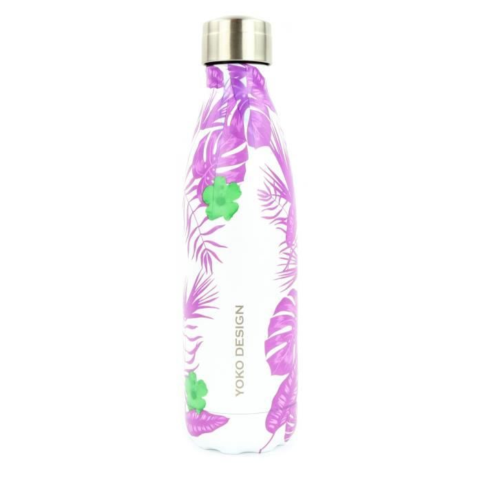 YOKO DESIGN Bouteille isotherme Tropical - Violet - 500 ml