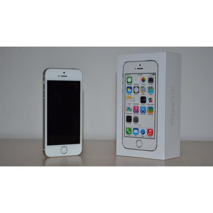 iphone 5s blanc 16goo prix achat smartphone pas cher. Black Bedroom Furniture Sets. Home Design Ideas