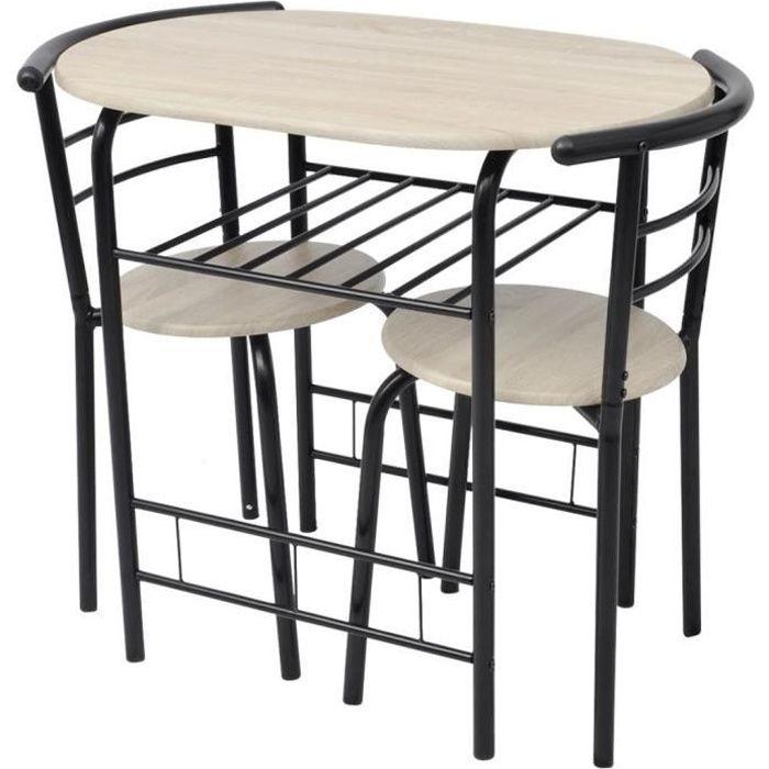 Table De Cuisine Petite Bois De Mdf Et Metal Noir Kitchen Table A