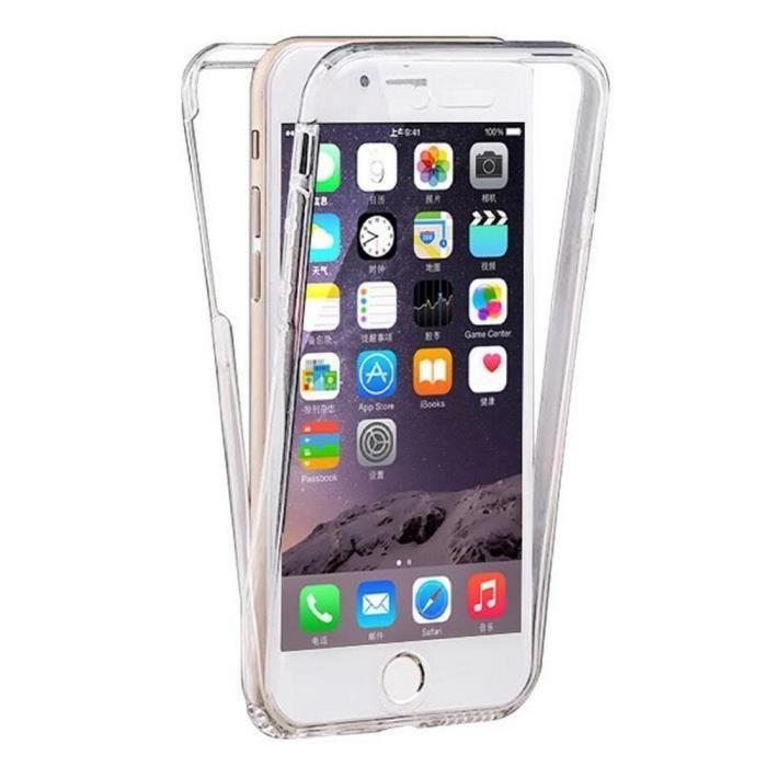 coque iphone se silicone gel integrale avant arrie