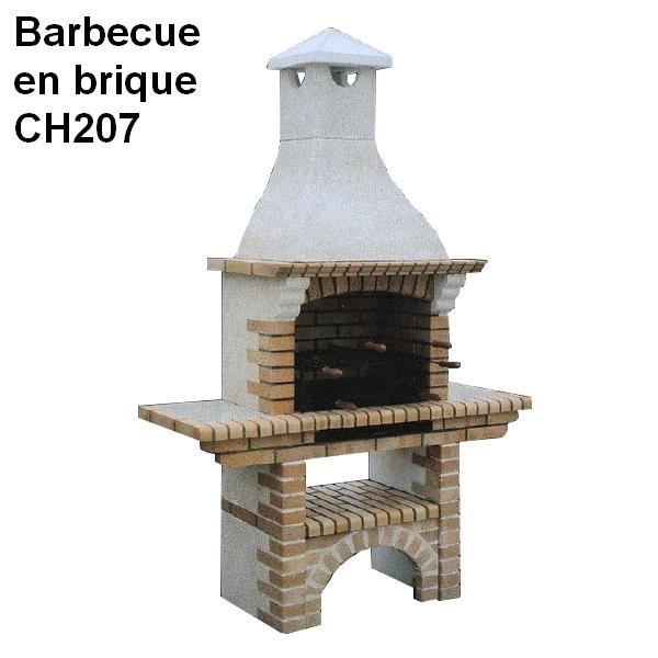 barbecue en brique rouge et b ton blanc ch207 achat vente barbecue barbecue en brique rouge. Black Bedroom Furniture Sets. Home Design Ideas