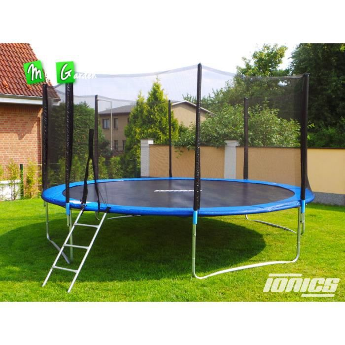 trampoline de jardin 430cm echelle filet achat vente trampoline trampoline de jardin. Black Bedroom Furniture Sets. Home Design Ideas