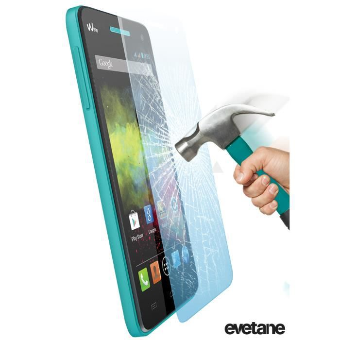 evetane film de protection verre tremp pour wiko rainbow 4g achat film protect t l phone. Black Bedroom Furniture Sets. Home Design Ideas