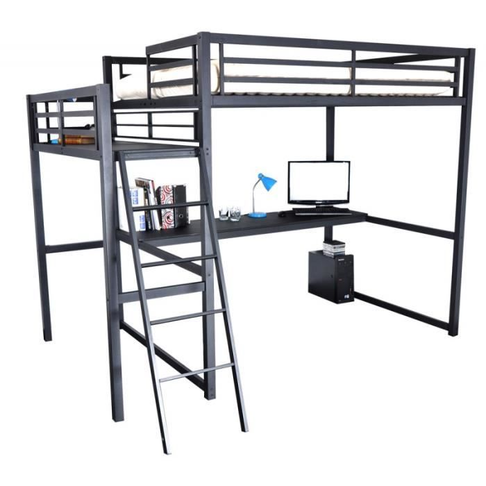 mezzanine 2 places vigo achat vente lit mezzanine mezzanine 2 places vigo cdiscount. Black Bedroom Furniture Sets. Home Design Ideas