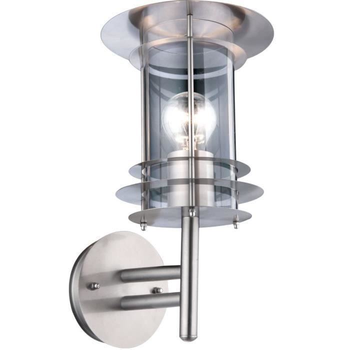 Globo lighting applique ext rieure inox polycarbonate for Luminaire exterieur inox