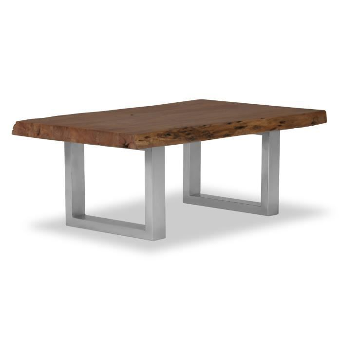 Table basse kenai 120x70 en acacia fonc laqu massivum - Table basse en acacia ...