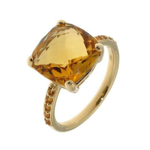 Bague or jaune Citrine